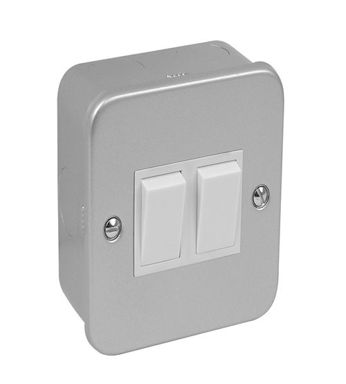 Volex Metal Clad 2gang Switch