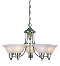 5 Glass Cup Chandelier Ceiling Light