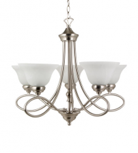 5 Glass Spiral Chandelier with Pendent