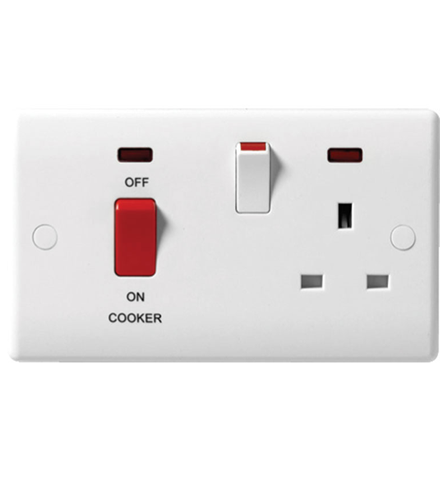 BG Nexus 45 Amp 3x6 DP Cooker Unit Red Rocker With Neon