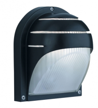 Black Bulkhead Outdoor Security Light