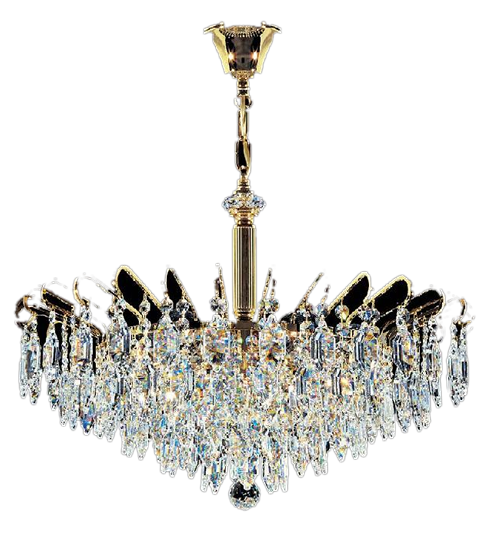 Ceiling Crystal Gold Chandelier