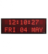 Dot Matrix Single Color Digital Clock Display