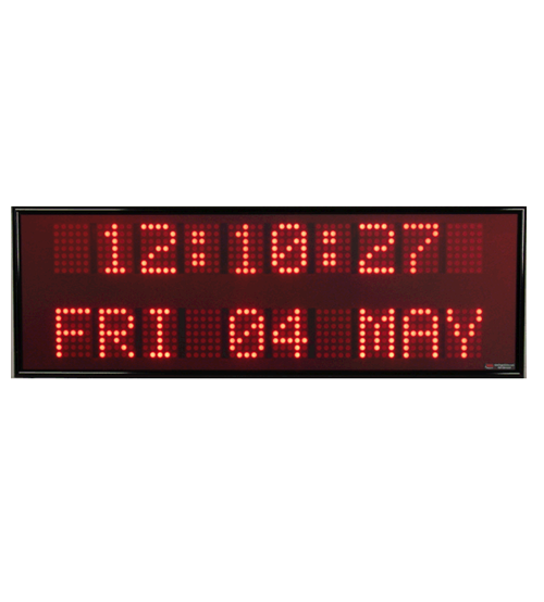 Dot Matrix Single Color Digital Date & Time Display