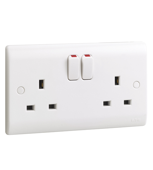 Eaton-MEM 13 Amp Double Switched Socket