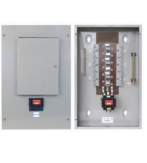 8Way Three Phase Eaton-MEM  (TPN) Distribution Board c/w MCB