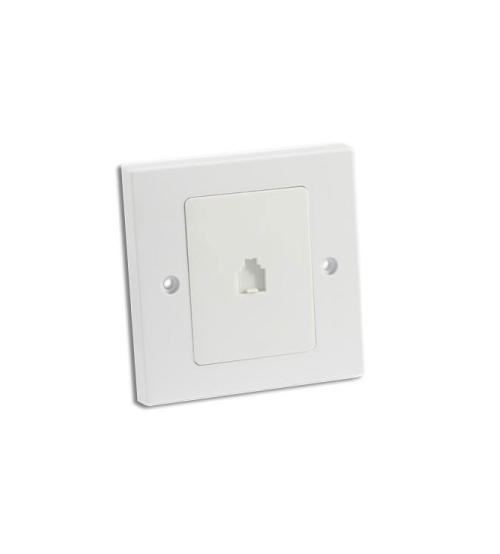 1 Gang RJ11 Telephone Socket White