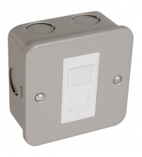 Metal Clad RJ45 Data Outlet Socket