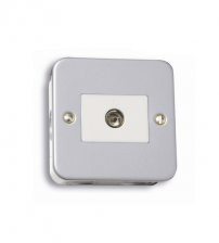 Metalclad TV Coaxial Socket