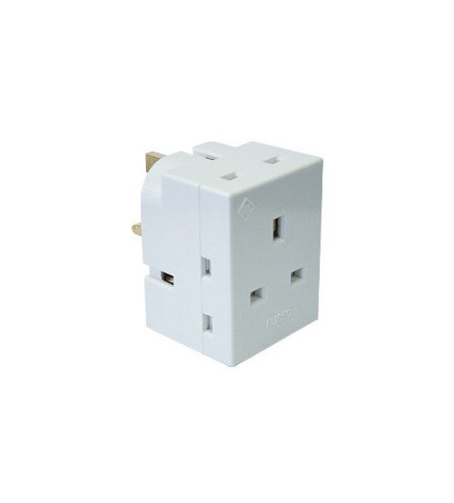 ABB 3 way Socket Multi plug Adapter