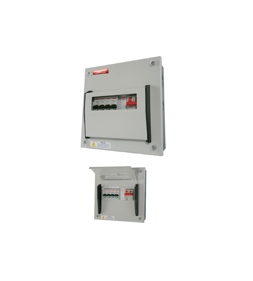 8Way 63A Single Phase PowerTec Consumer Units DB C/W MCB